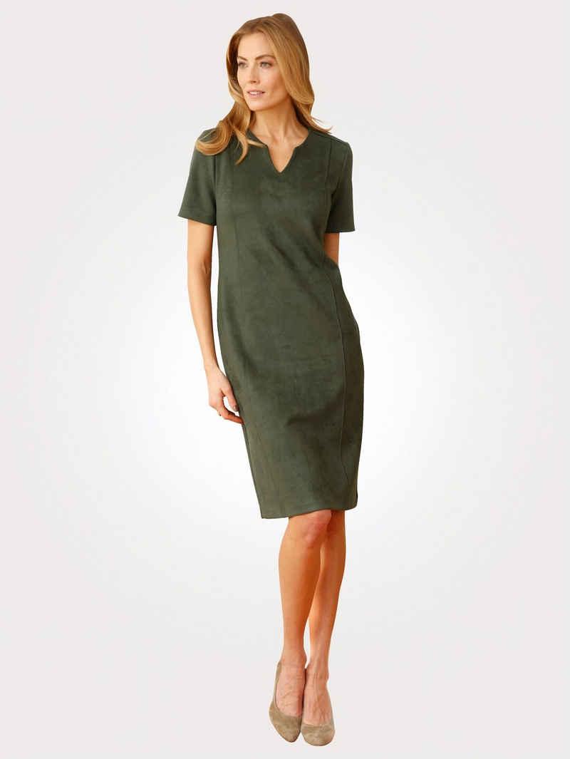Mona Sommerkleid aus Velours-Lederimitat