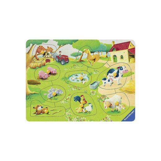 Ravensburger Holz-Puzzle, 9 Teile, 24x18 cm, Kleiner Bauernhof