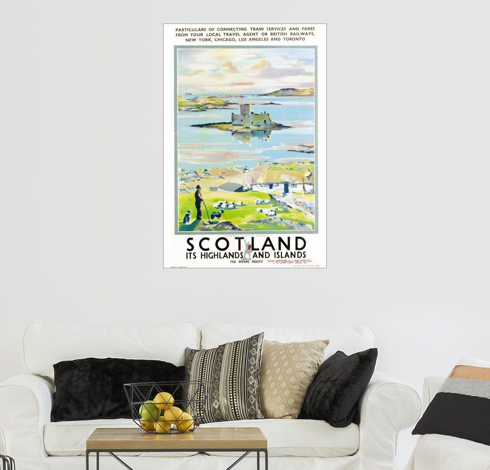Posterlounge Wandbild - Scottish School »Plakatwerbung British Railways«