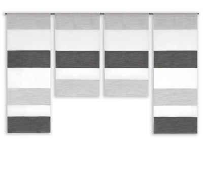 Scheibengardine »2291 4er Set Mini Flächen Vorhang, Miniflächenvorhang«, Clever-Kauf-24, (4 Stück), Store, Scheibengardine, bunt gewebt