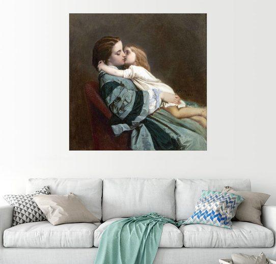 Posterlounge Wandbild - Auguste Toulmouche »Le baiser«