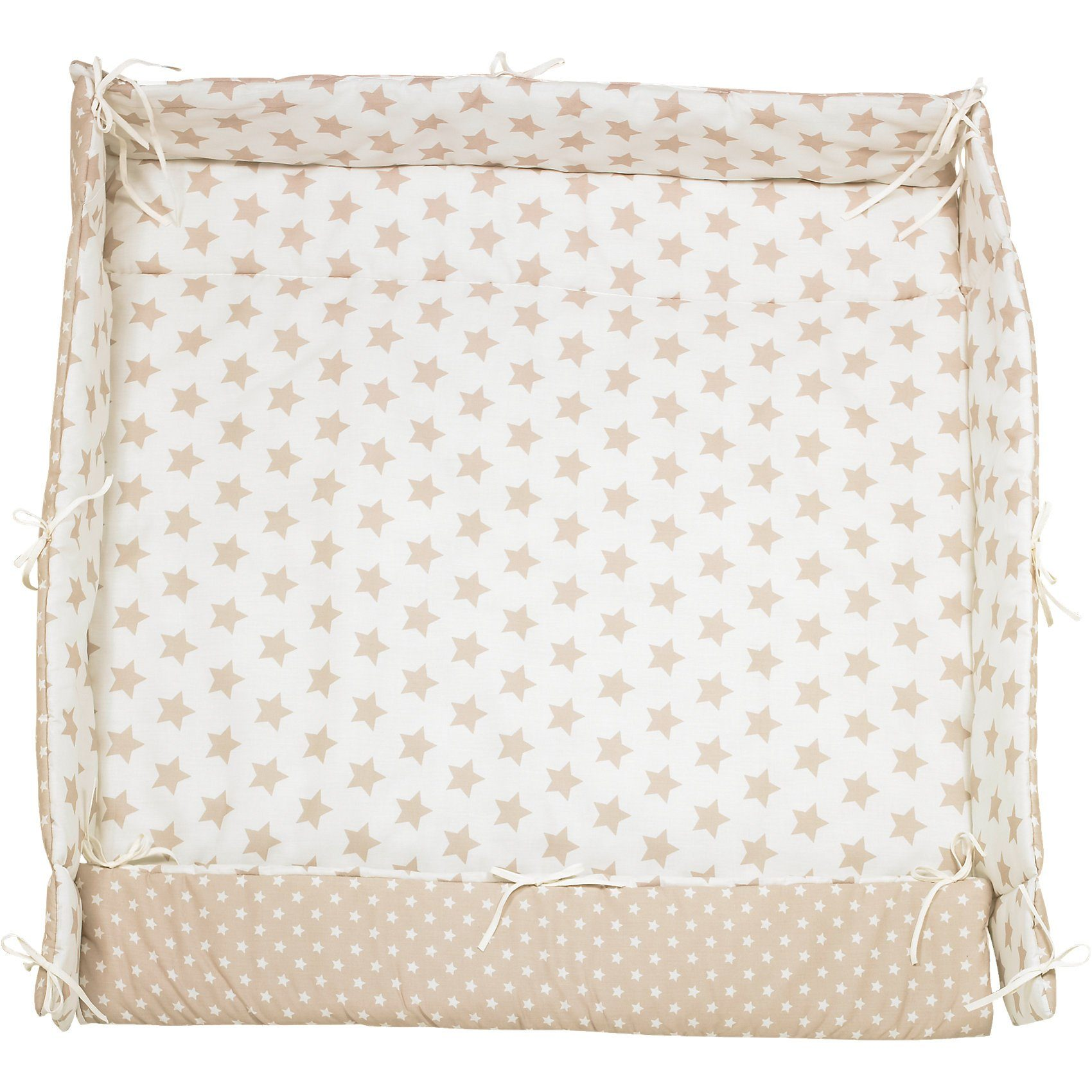 Alvi Laufgittereinlage Sterne, beige, 70 x 100 cm