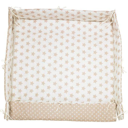 MyToys-COLLECTION Laufgittereinlage Sterne, beige, 70 x 100 cm