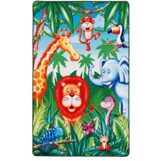 BC kids Kinderteppich Lovely Kids, Dschungel, 67 x 125