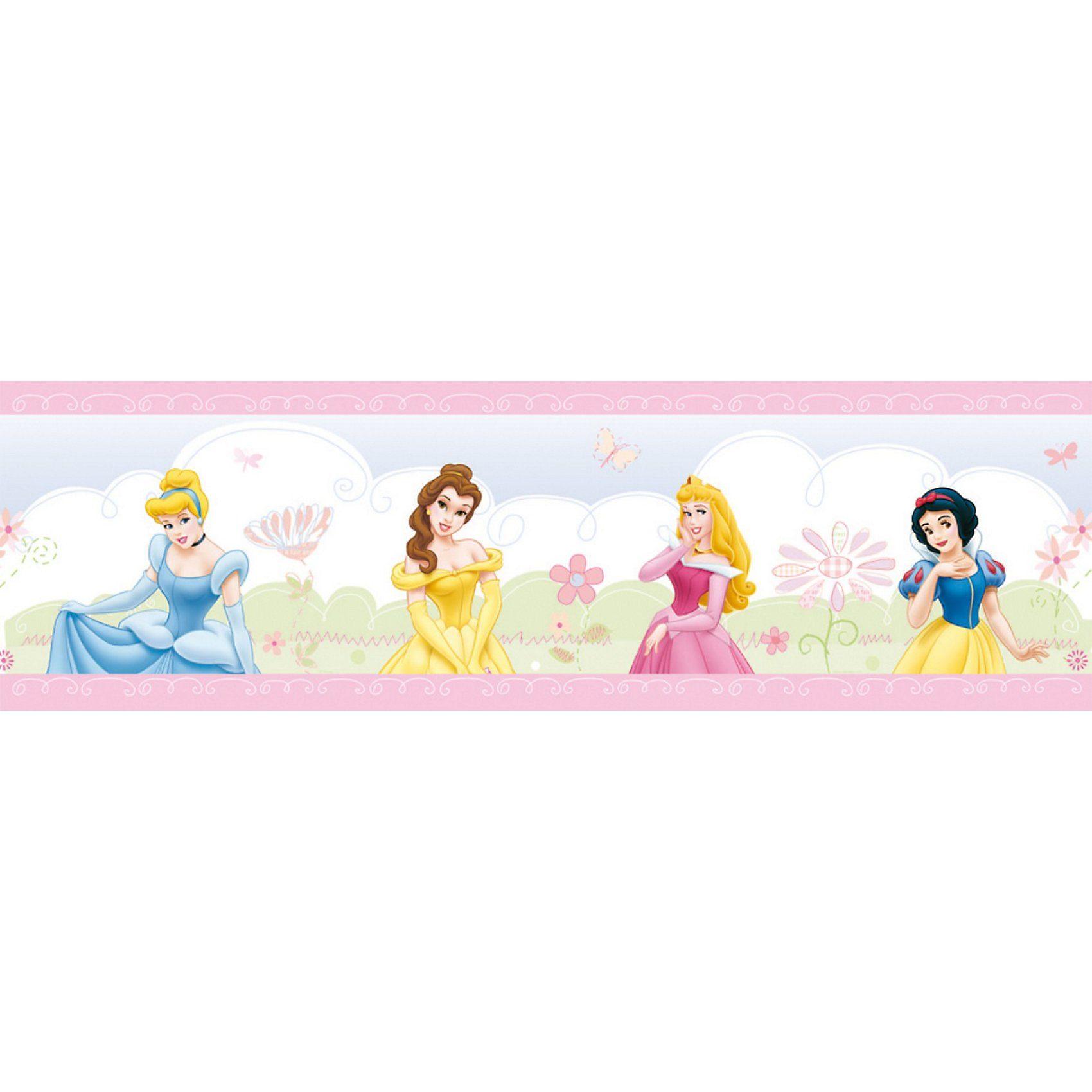 Decofun Bordüre Disney Princess Castle, 5 m x 15,9 cm