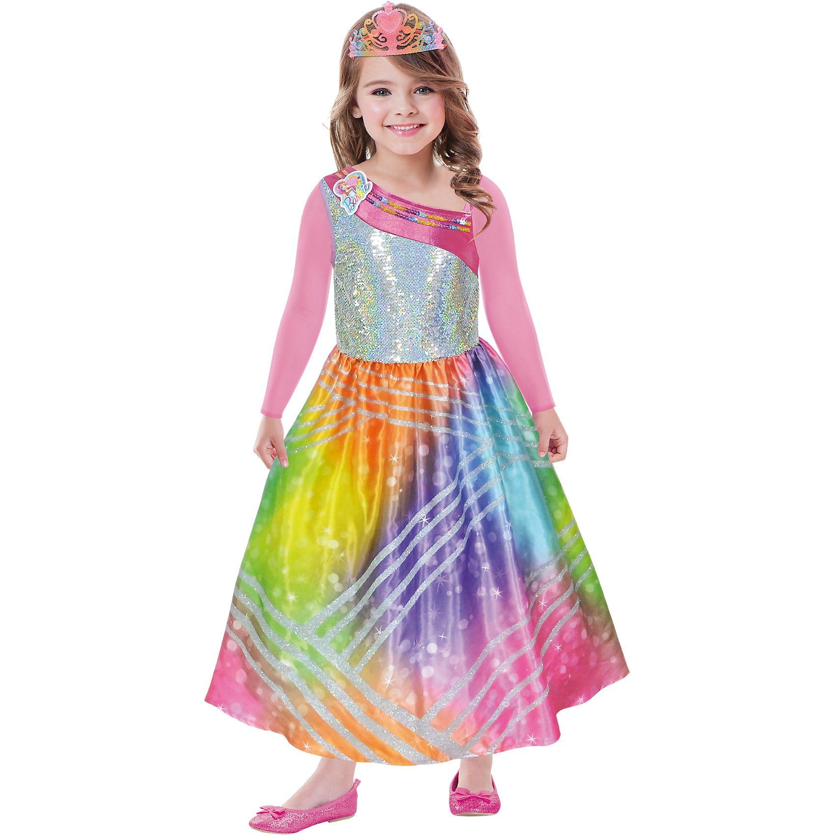 Amscan Kostüm Barbie Rainbow Magic, 2-tlg.