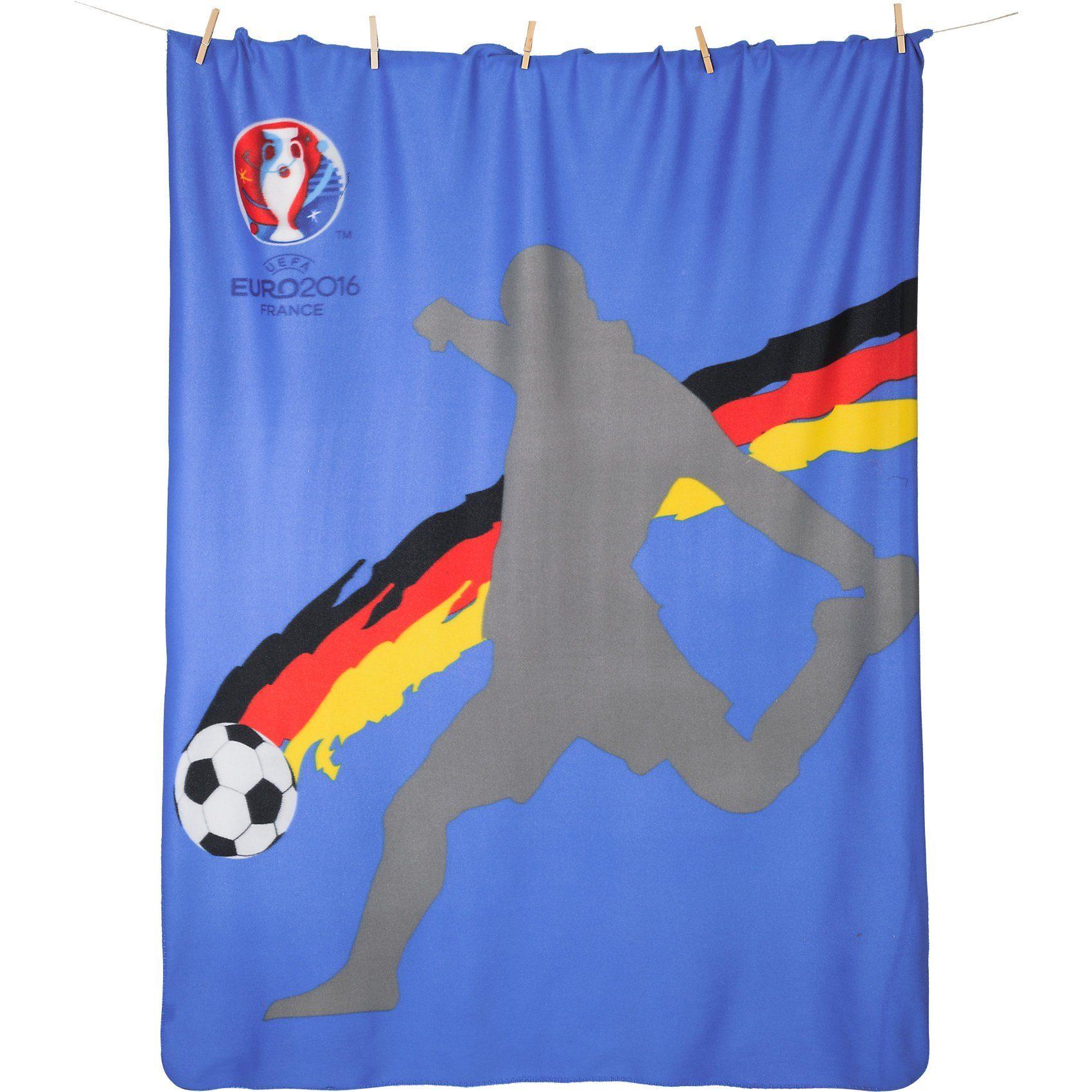 Deutscher Fußball-Bund Fleecedecke EM 2016 Fußballstar, 130 x 170 cm