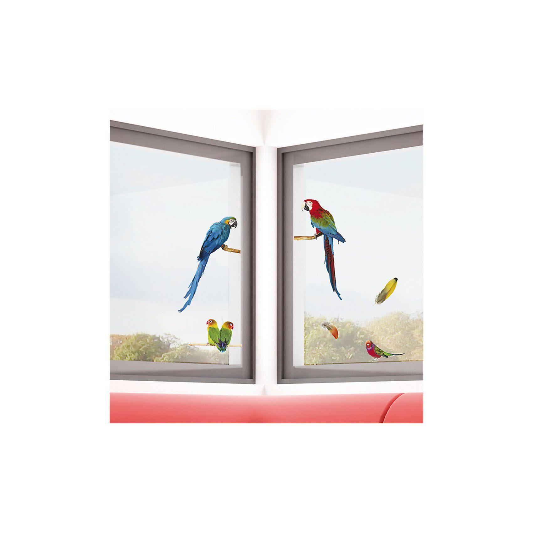 Fenstersticker, Papageien, 7-tlg.