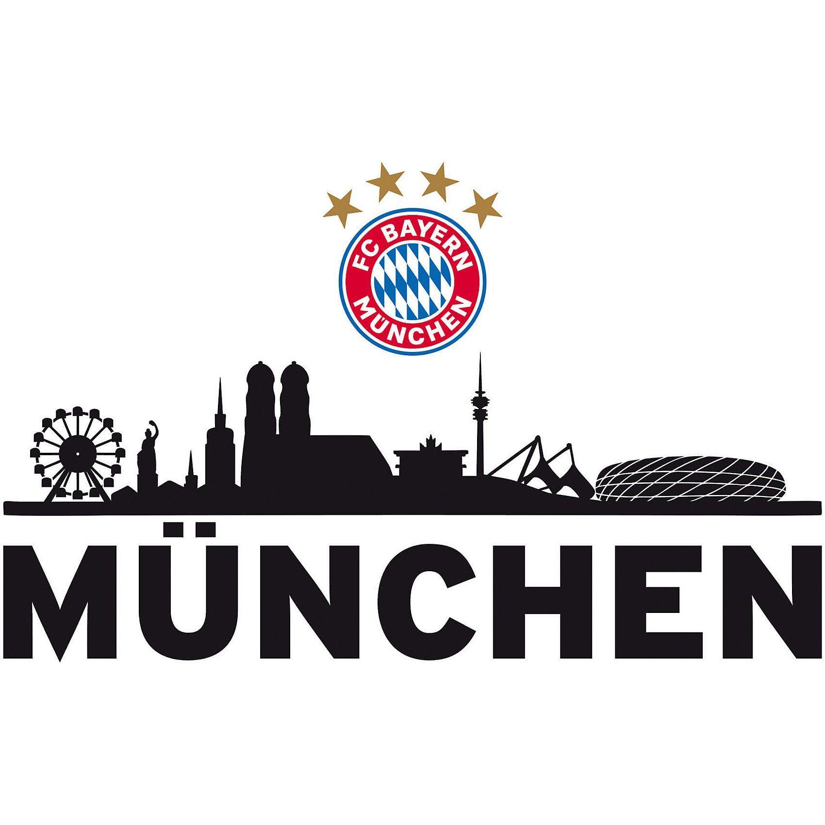 Wandtattoo FCB Skyline mit Logo, 60 x 30 cm