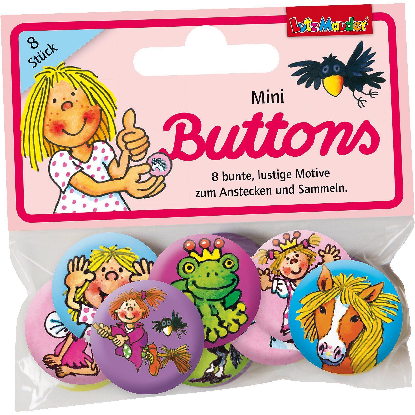 Lutz Mauder Verlag Mini-Buttons Mädchen, 8 Stück