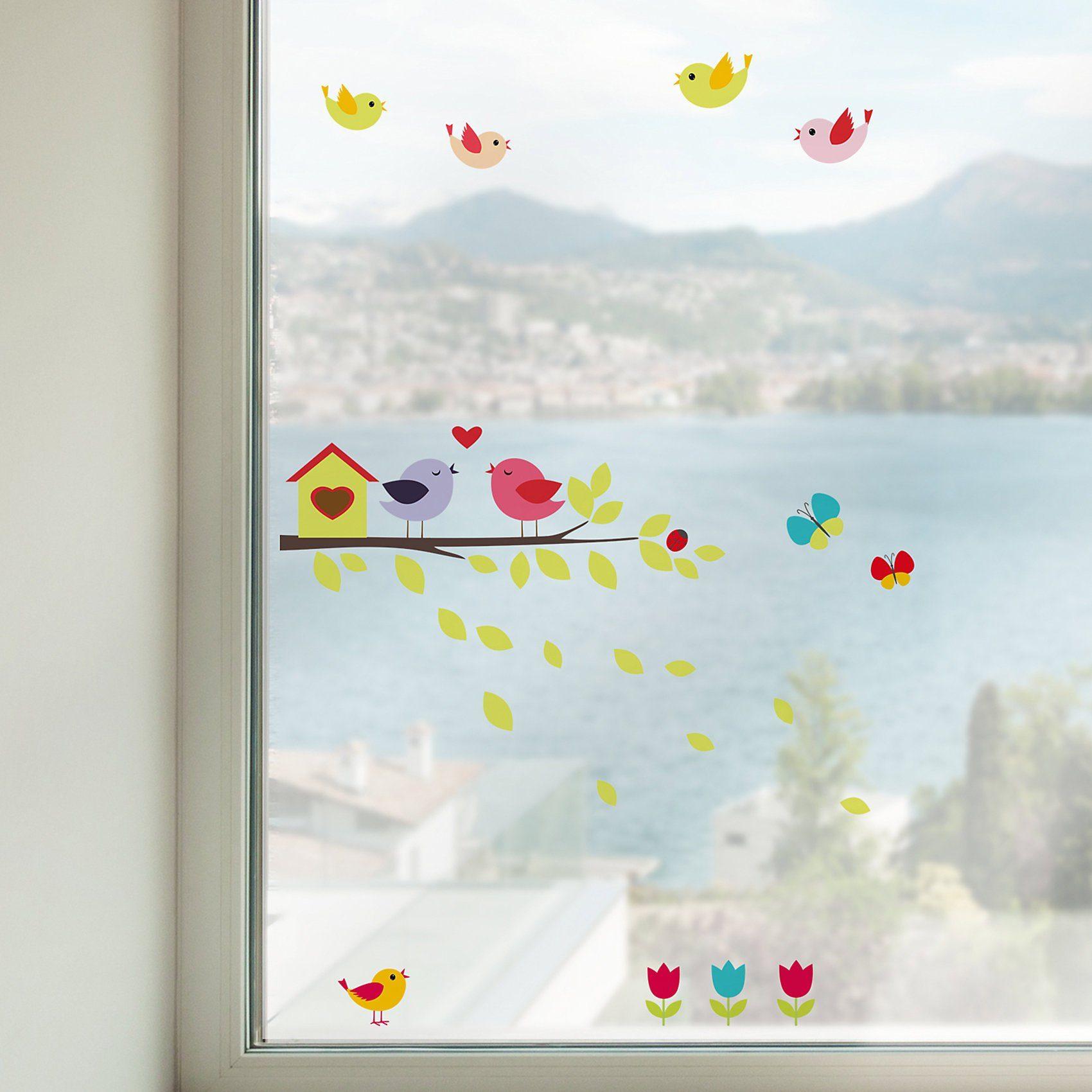 Fenstersticker, Vögel, 35-tlg.