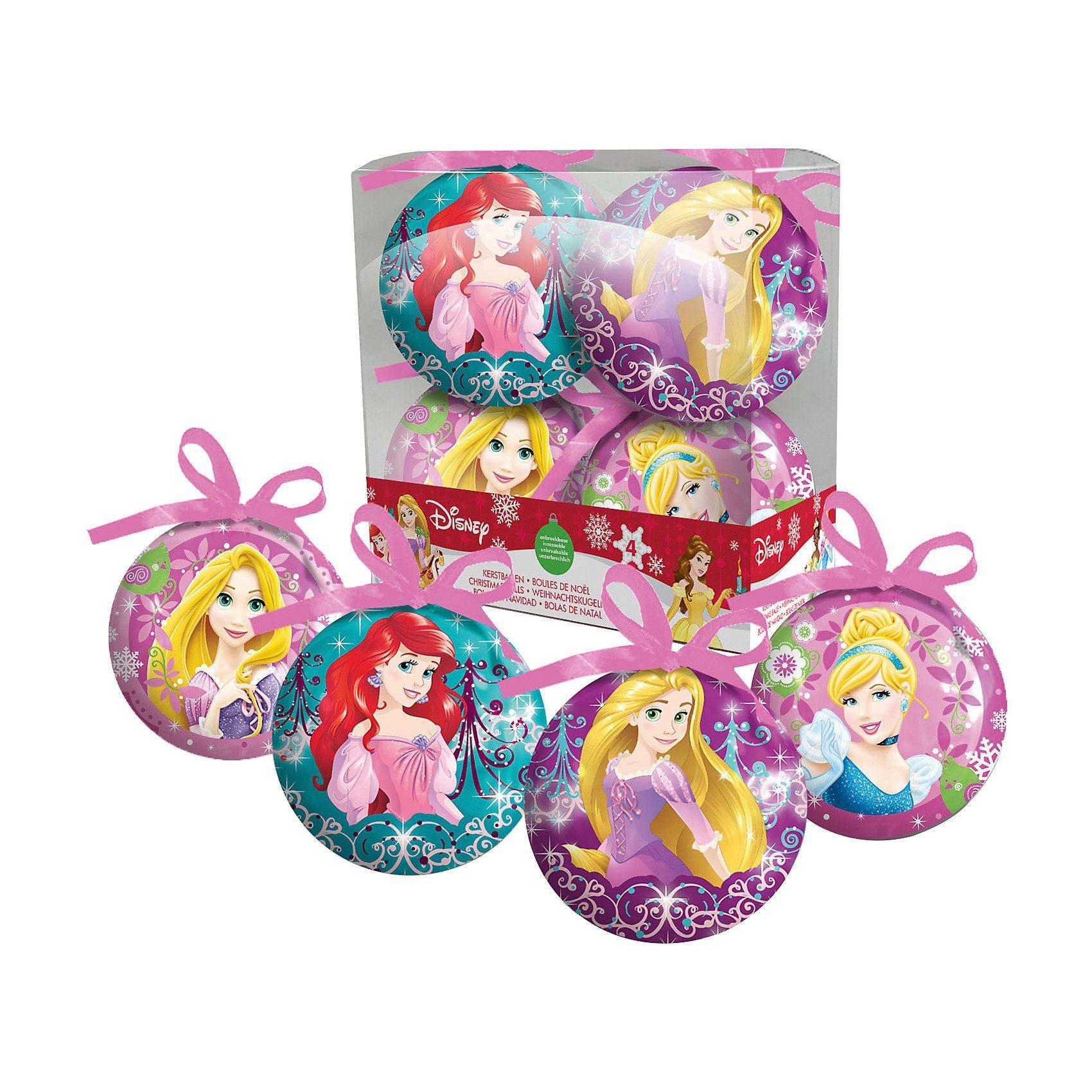 frajodis Weihnachtsbaumkugeln Disney Princess, 4 Stück