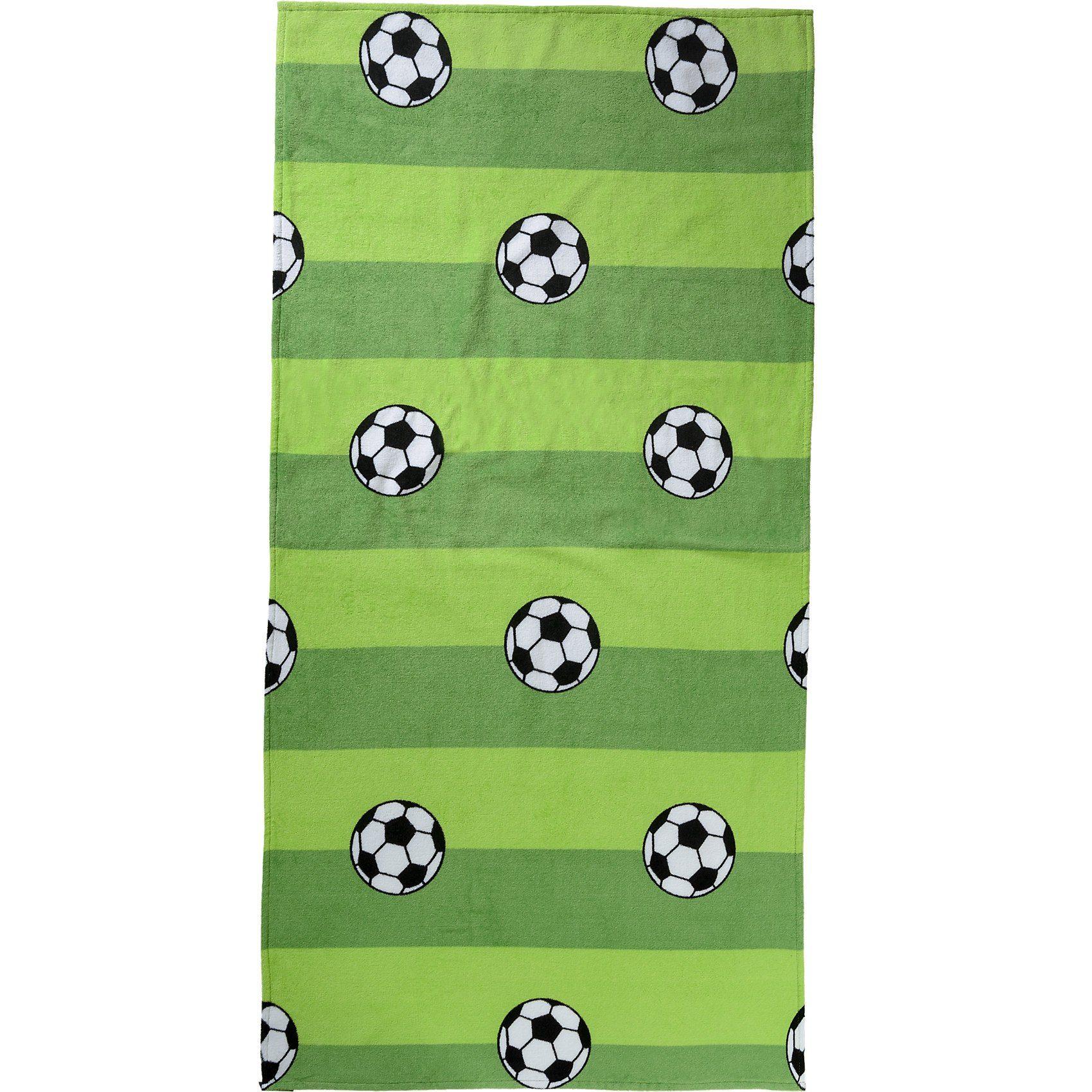 Strand- & Badetuch, Fußball, 75 x 150 cm