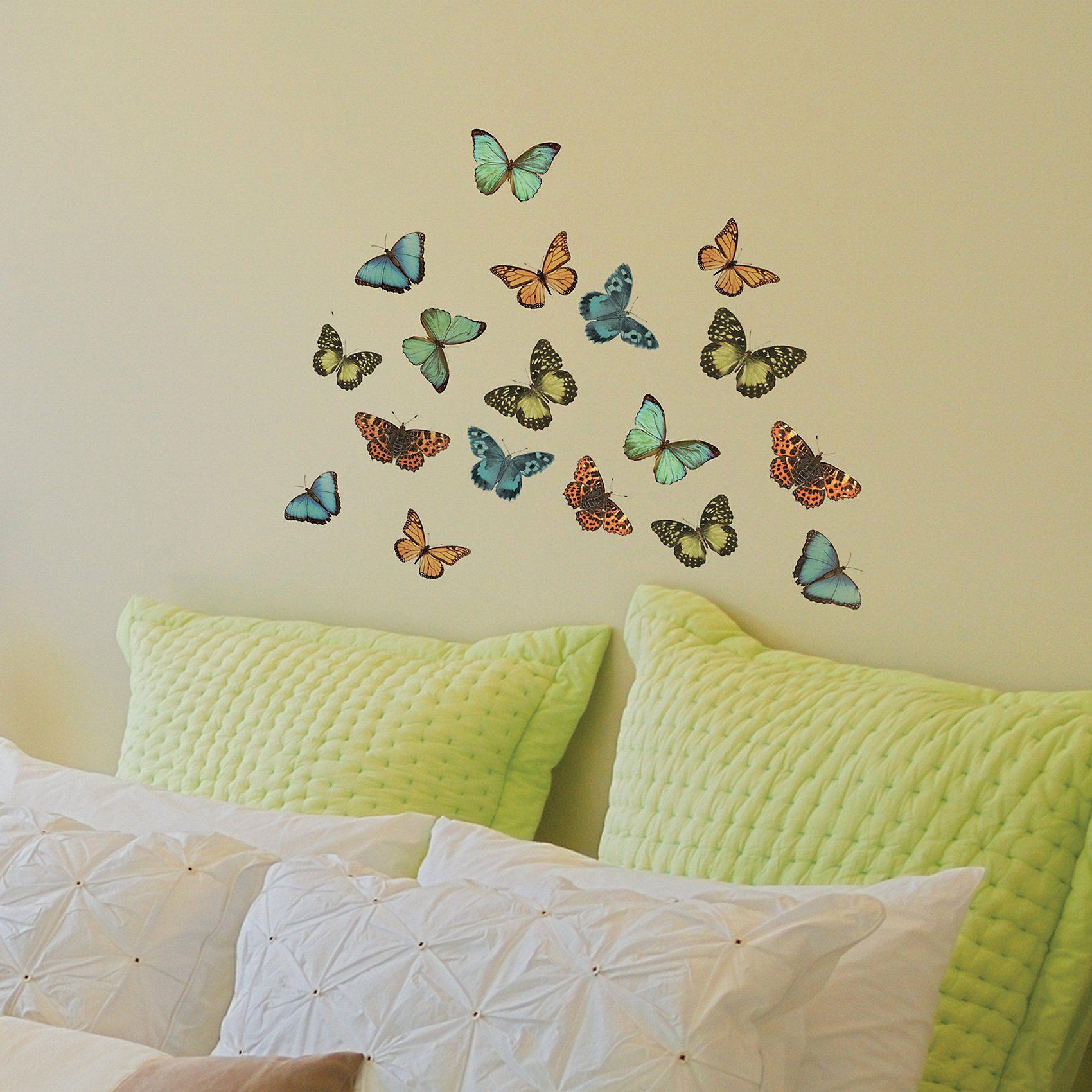 Wandsticker Schmetterlinge, 36-tlg.