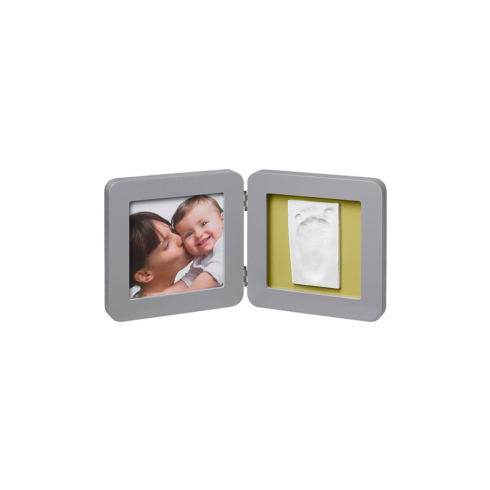 Baby Art Gipsabdruck Set mit 2-tlg. Bilderrahmen, grey
