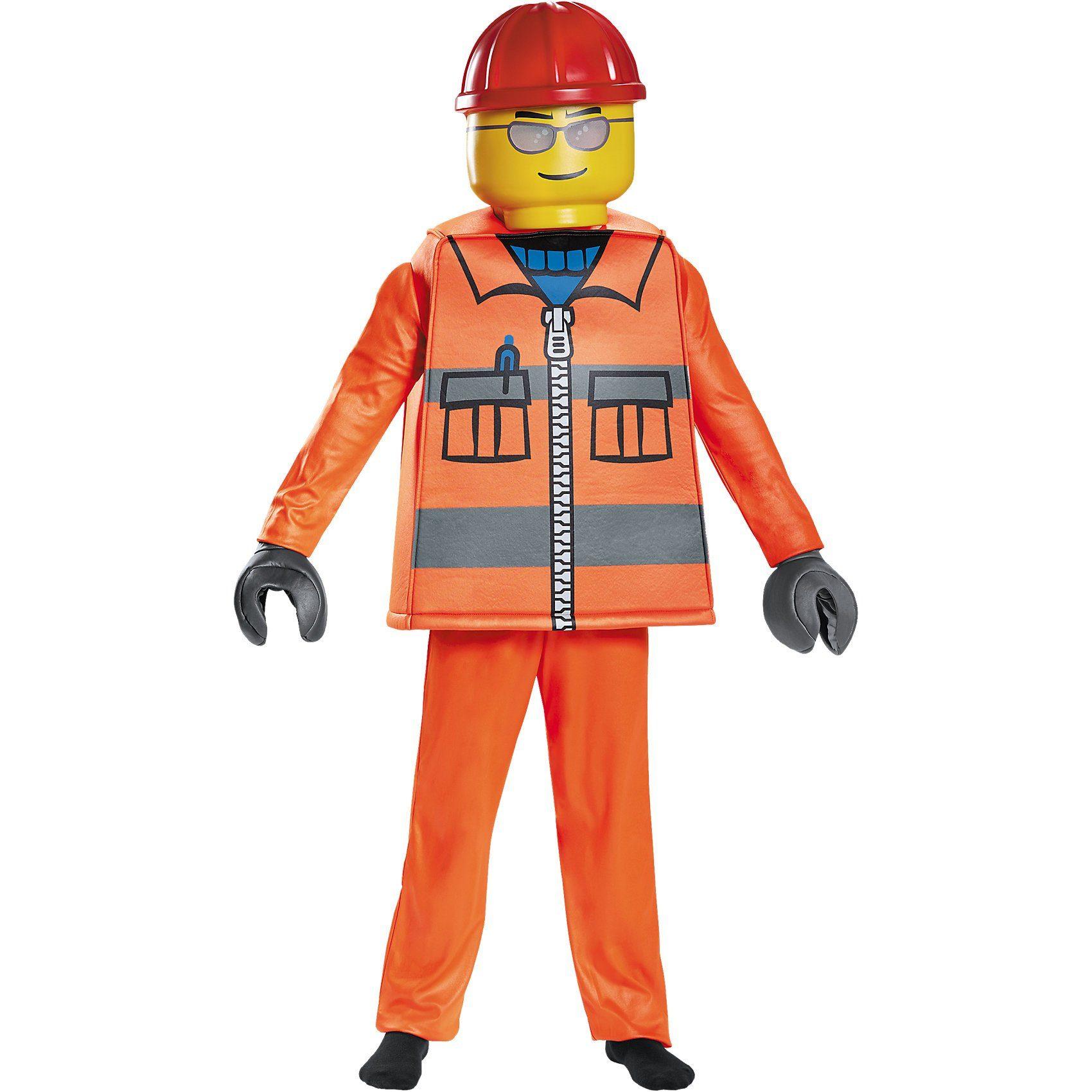 LEGO® Kostüm Bauarbeiter Deluxe, 5-tlg.