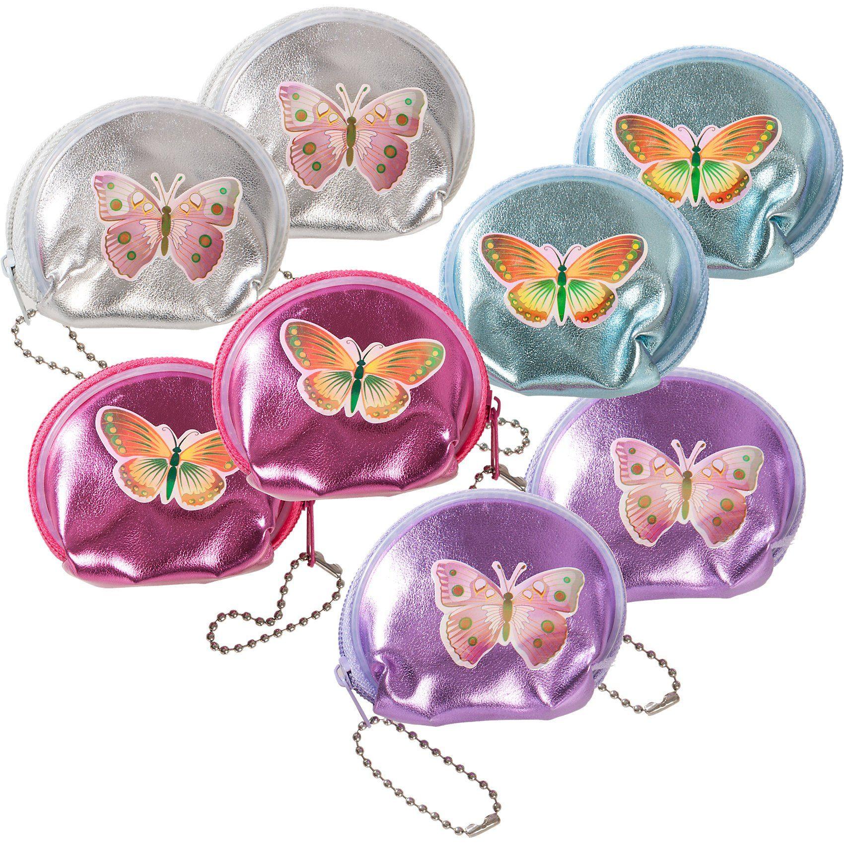 EDUPLAY Geldbeutel Schmetterlinge, 8 Stück