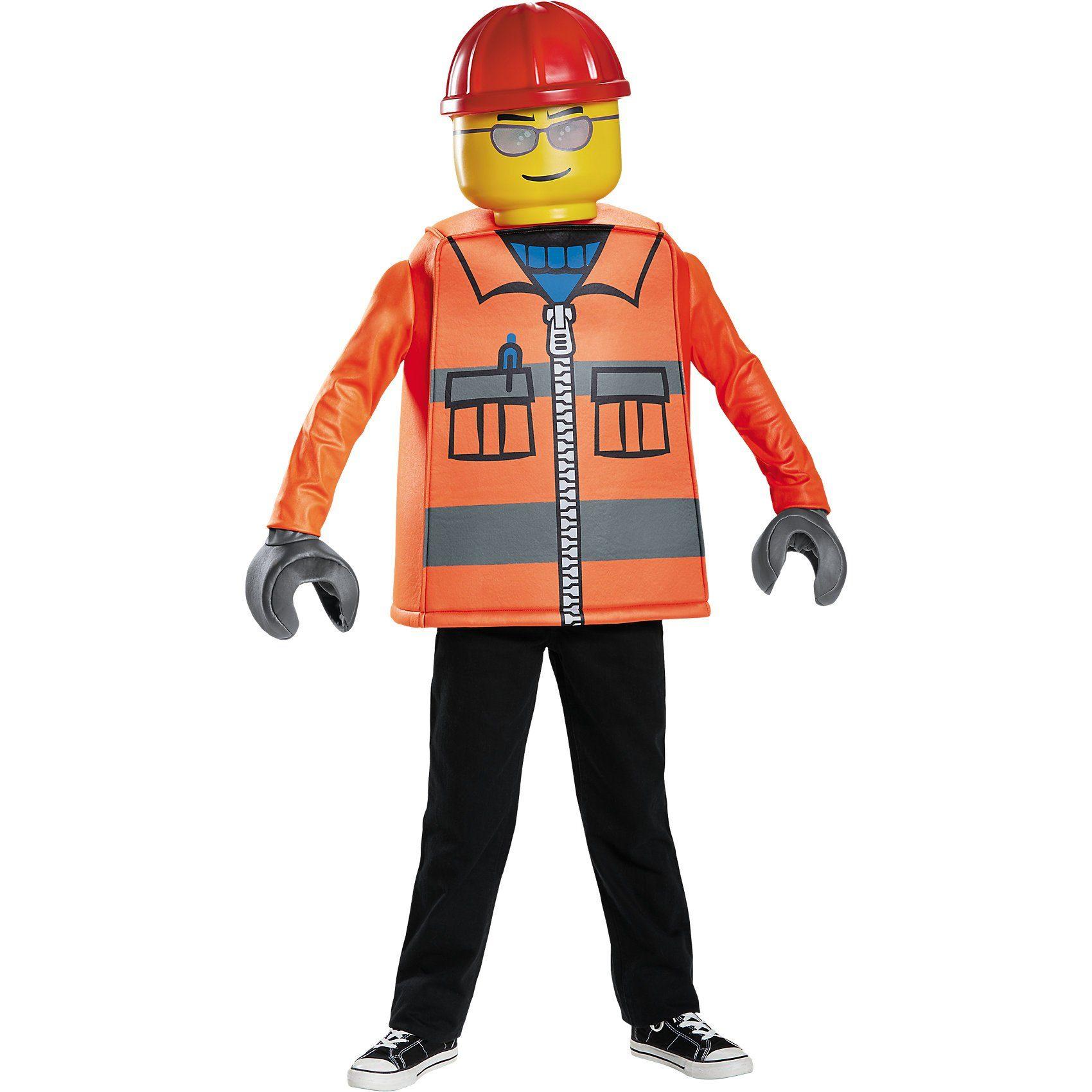 LEGO Kostüm Bauarbeiter Classic, 4-tlg.