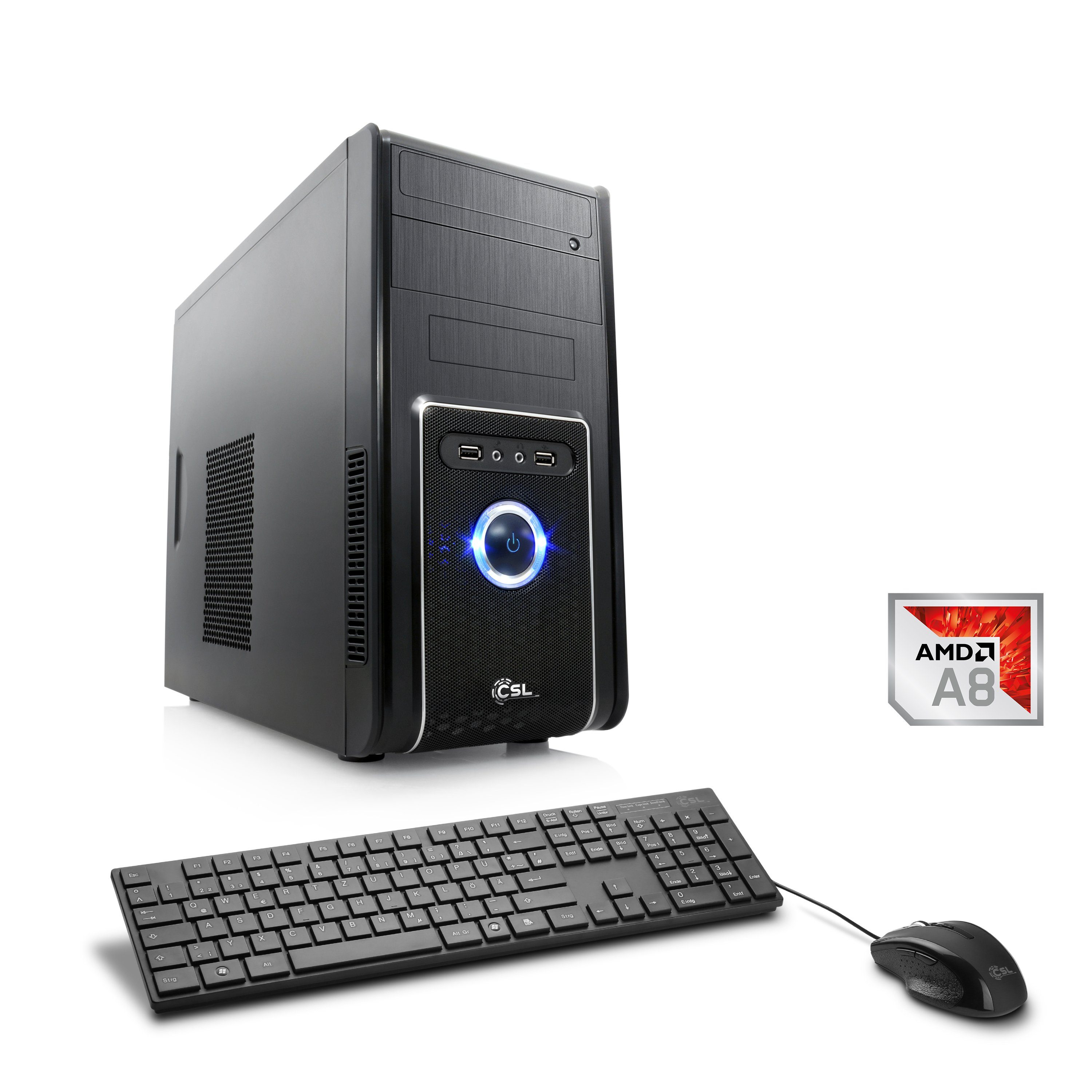CSL Multimedia PC | AMD A8-9600 | Radeon R7 | 4 GB DDR4 RAM »Sprint T4111 Windows 10 Home«
