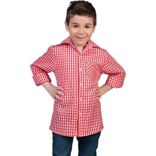 Funny Fashion Kostüm kariertes Hemd rot