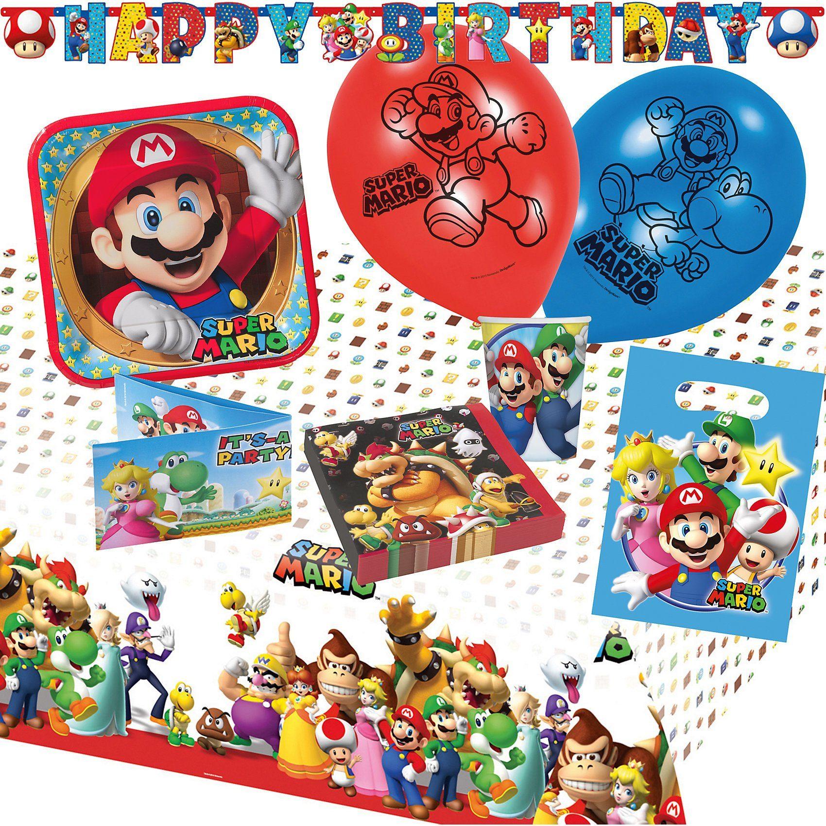 Amscan Partyset Super Mario, 68-tlg.