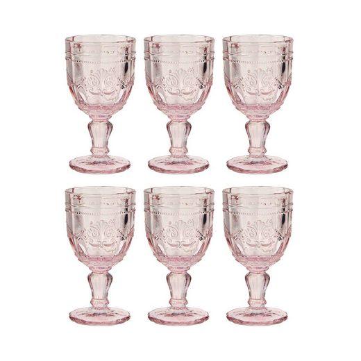 BUTLERS Weinglas »VICTORIAN 6x Trinkglas mit Stiel 230ml«, Glas