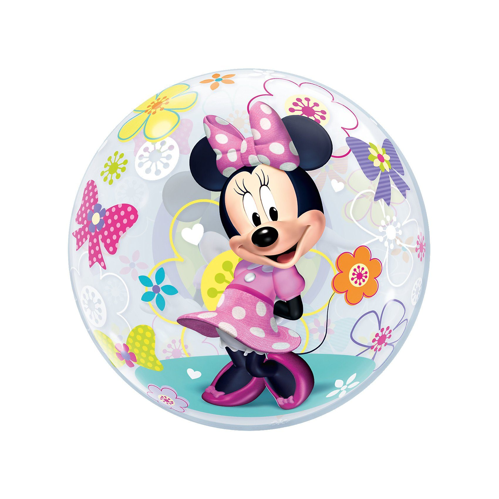 Qualatex Luftballon Bubble Balloon Minnie Mouse