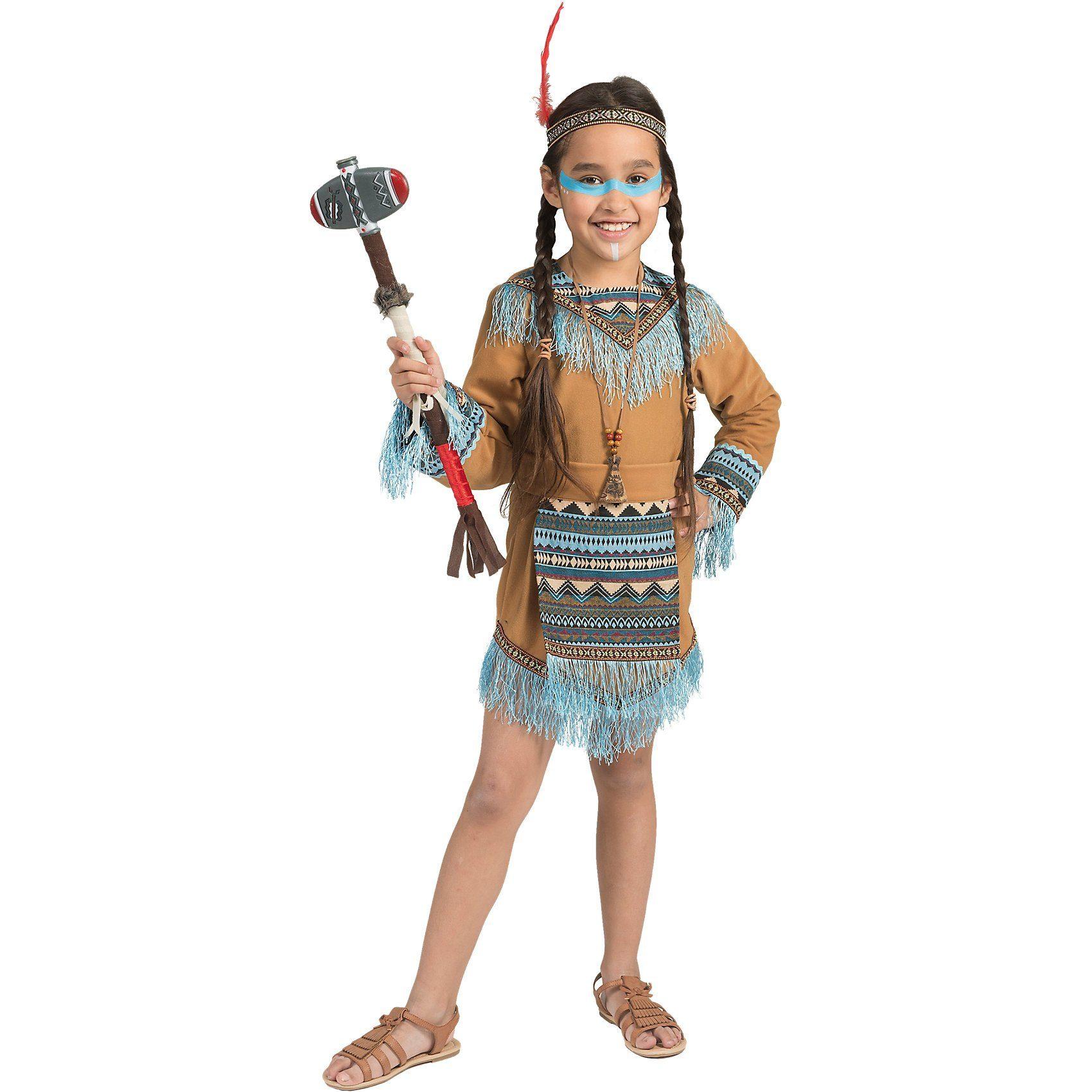Funny Fashion Kostüm Indianer Girl Wild Wigwam, 3-tlg.
