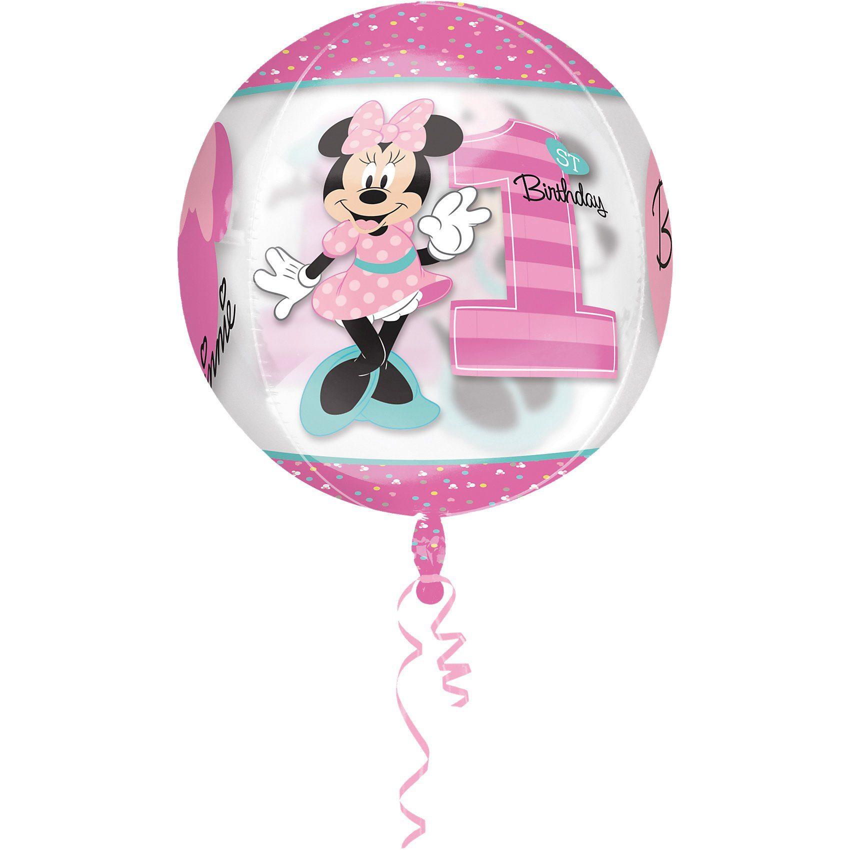 Amscan Folienballon Orbz Minnie Mouse - 1st Birthday