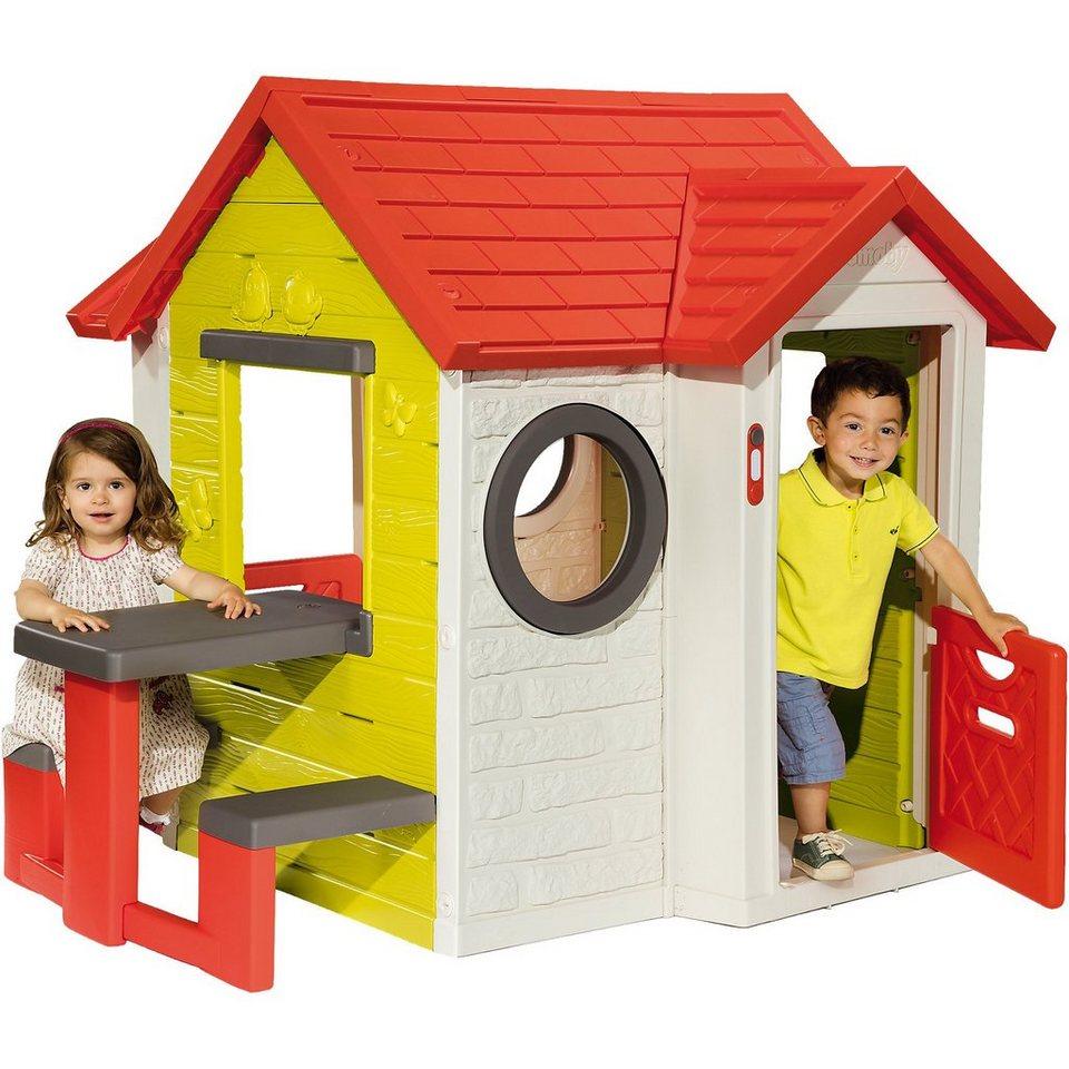 smoby mein haus mit picknicktisch online kaufen otto. Black Bedroom Furniture Sets. Home Design Ideas