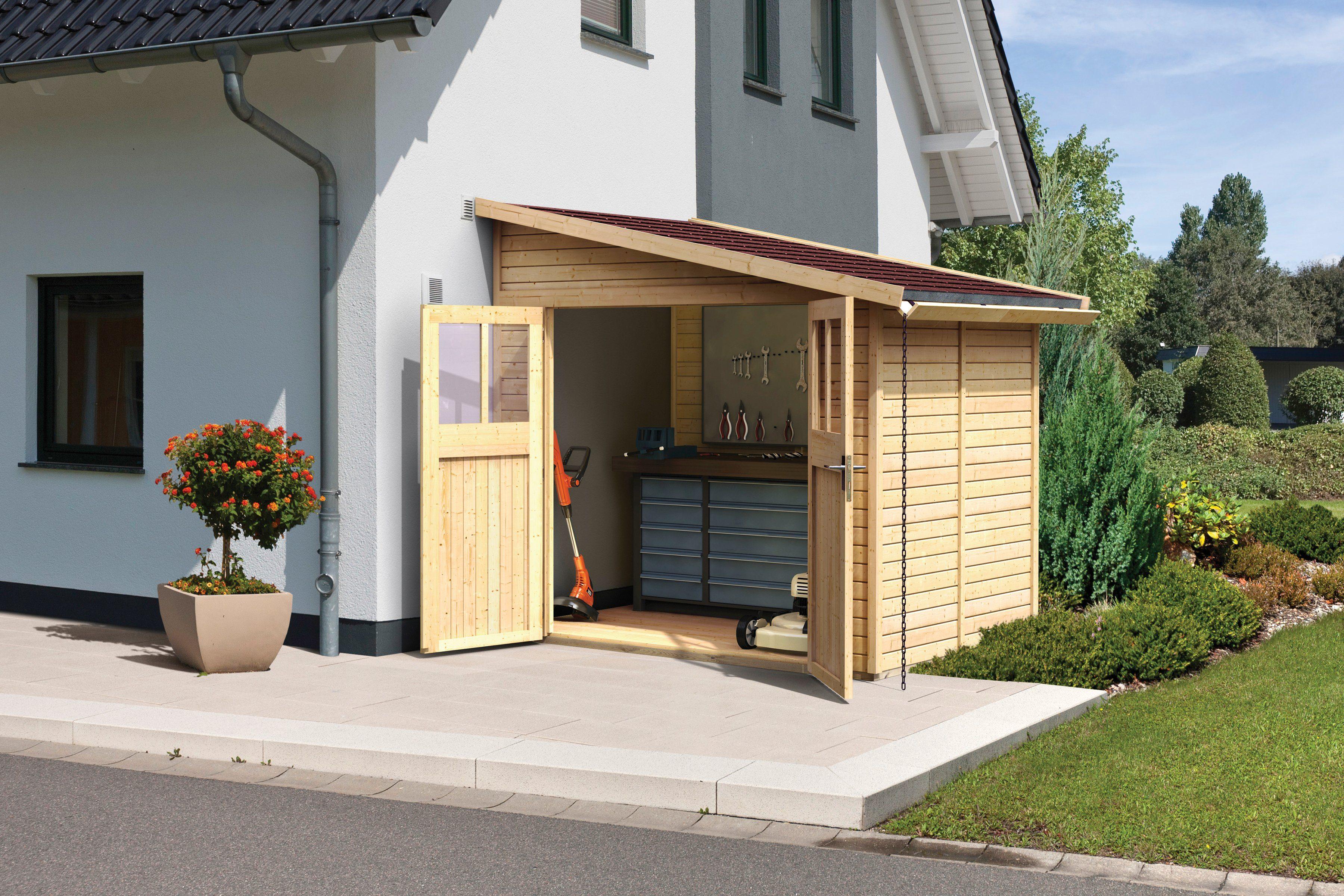 KARIBU Gartenhaus »Rendsburg 2«, BxT: 255x214 cm