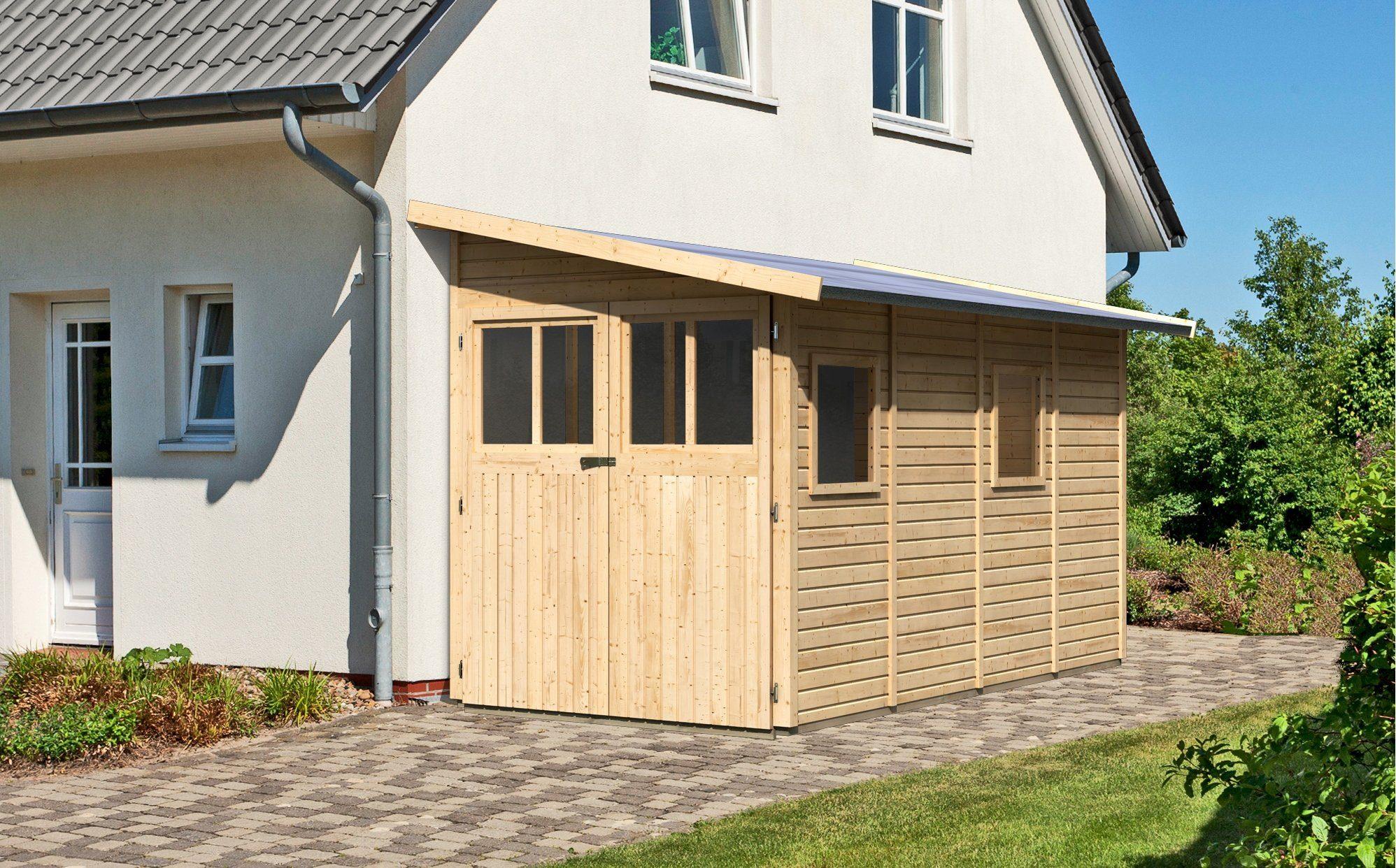 KARIBU Gartenhaus »Wittenburg 4«, BxT: 200x408 cm
