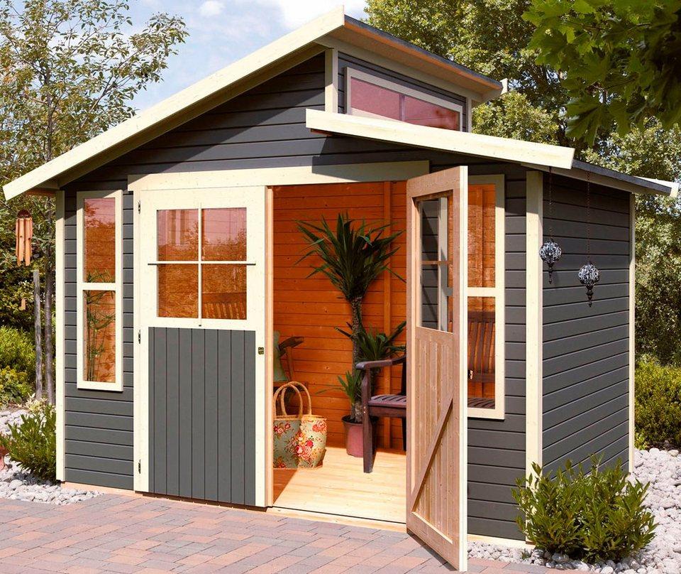 karibu gartenhaus schwarzburg 6 bxt 339x264 cm aus lackiertem fichtenholz online kaufen otto
