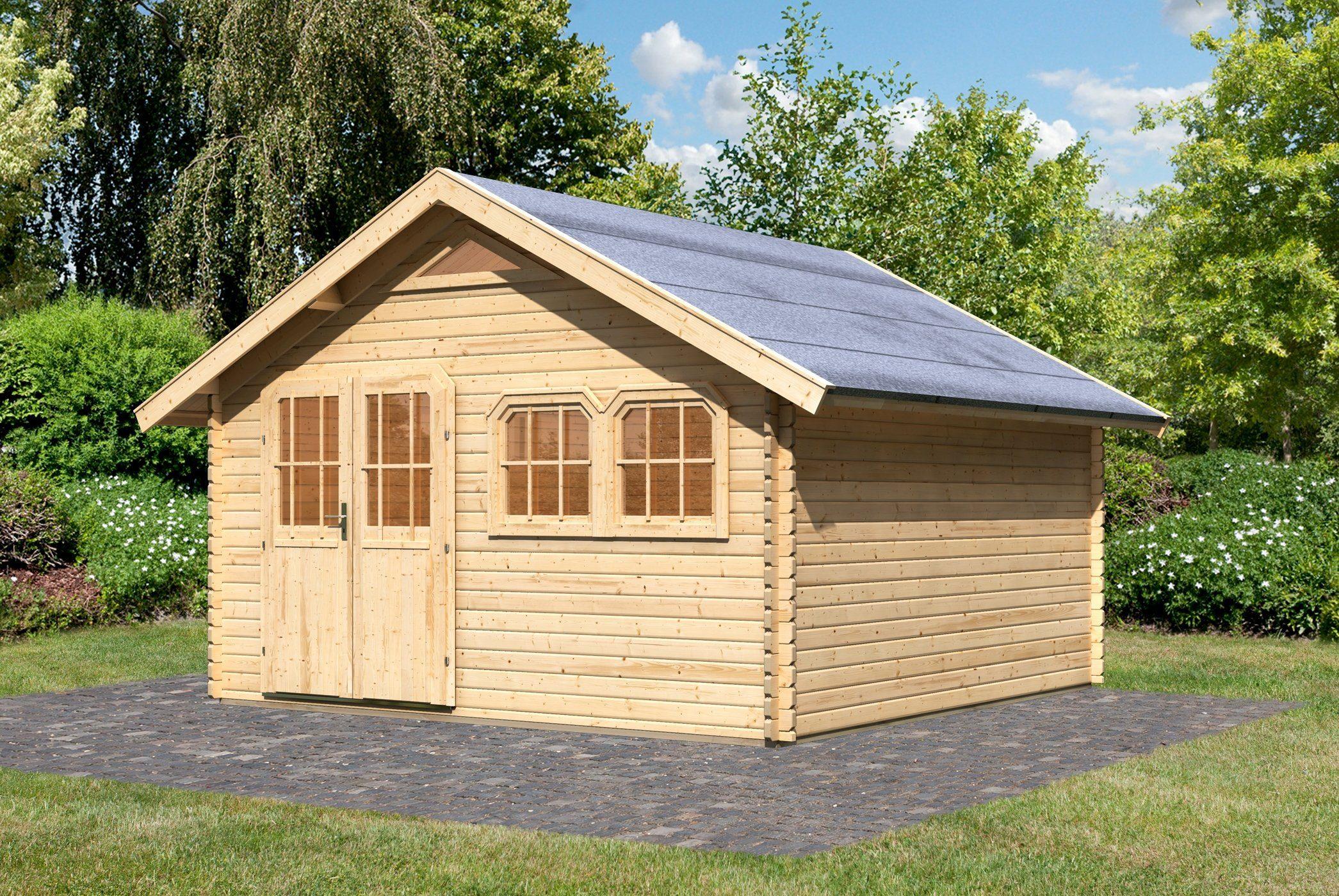 KARIBU Gartenhaus »Doderitsch 5«, BxT: 402x454 cm