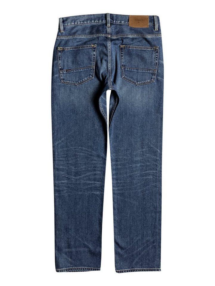Herren Quiksilver Regular Fit Jeans Sequel Medium Blue blau | 03613372898457