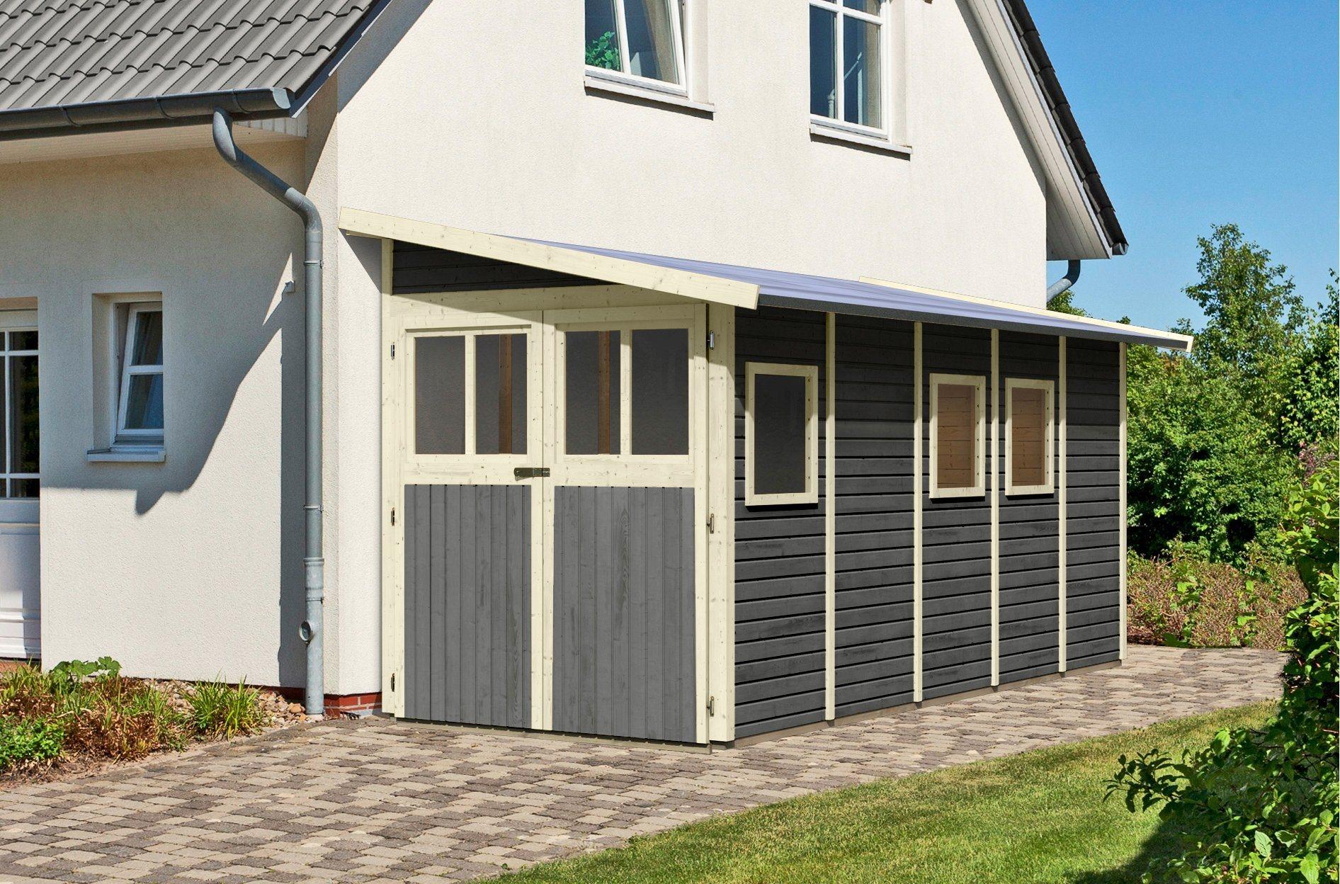 KARIBU Gartenhaus »Wittenburg 5«, BxT: 200x469 cm | Garten > Gartenhäuser | Farbig | Karibu