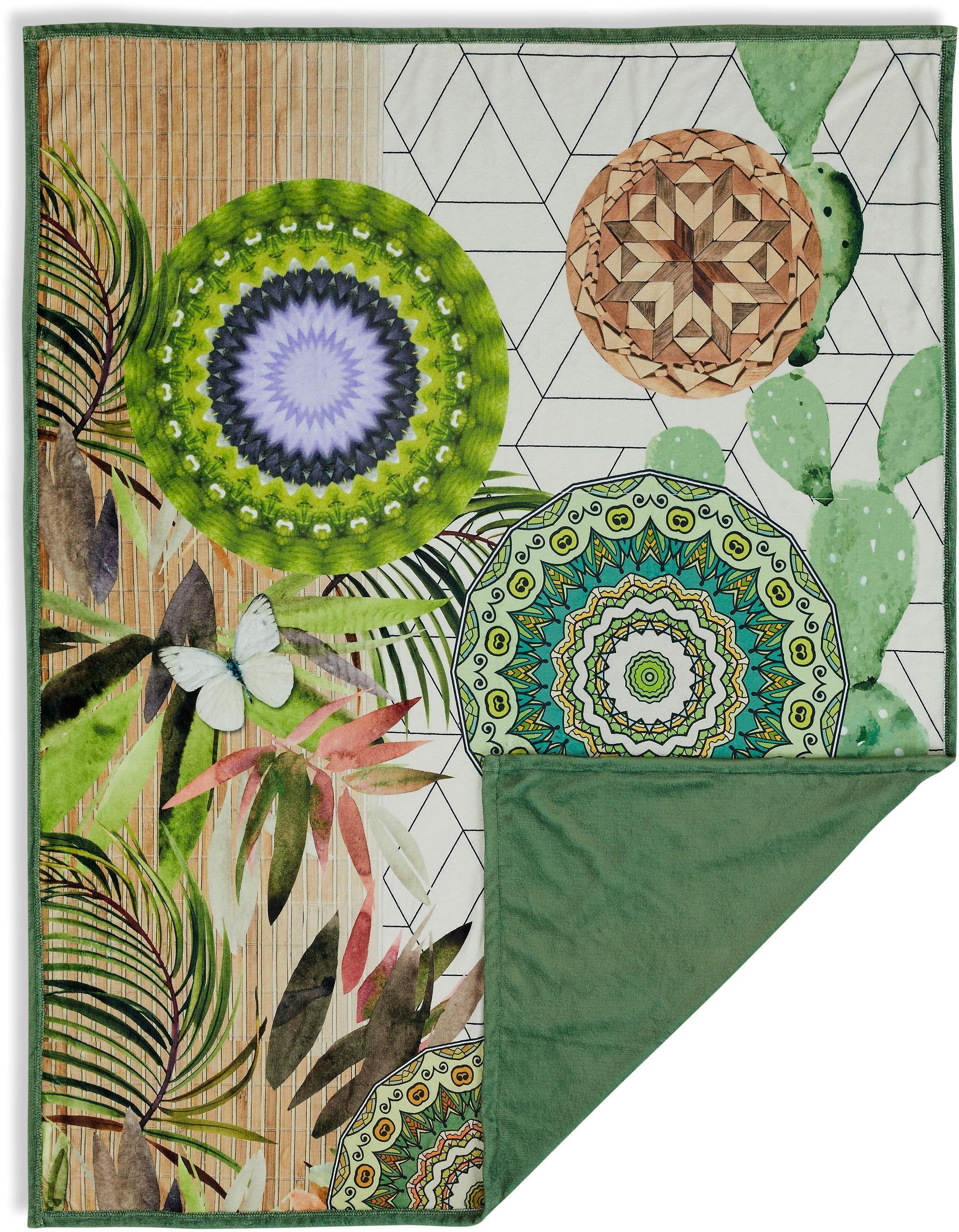 Wohndecke »Bodhini«, hip, mit floralen Muster