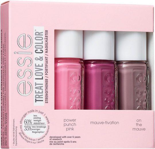 essie Nagellack-Set »Treat, Love & Color power punch pink, mauve-tivation & on the mauve Mini«, 3-tlg.