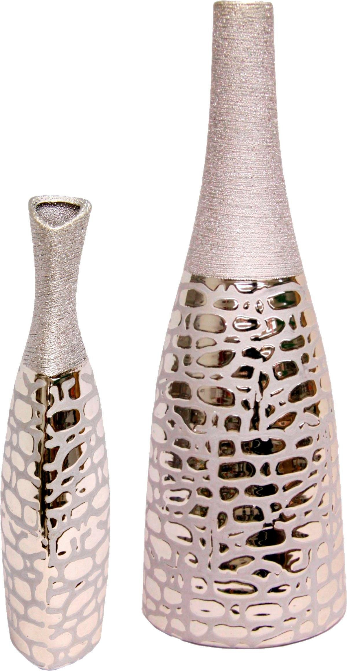 Home Affaire Keramik-Vase, Höhe 26 und 37 cm (2er Set)