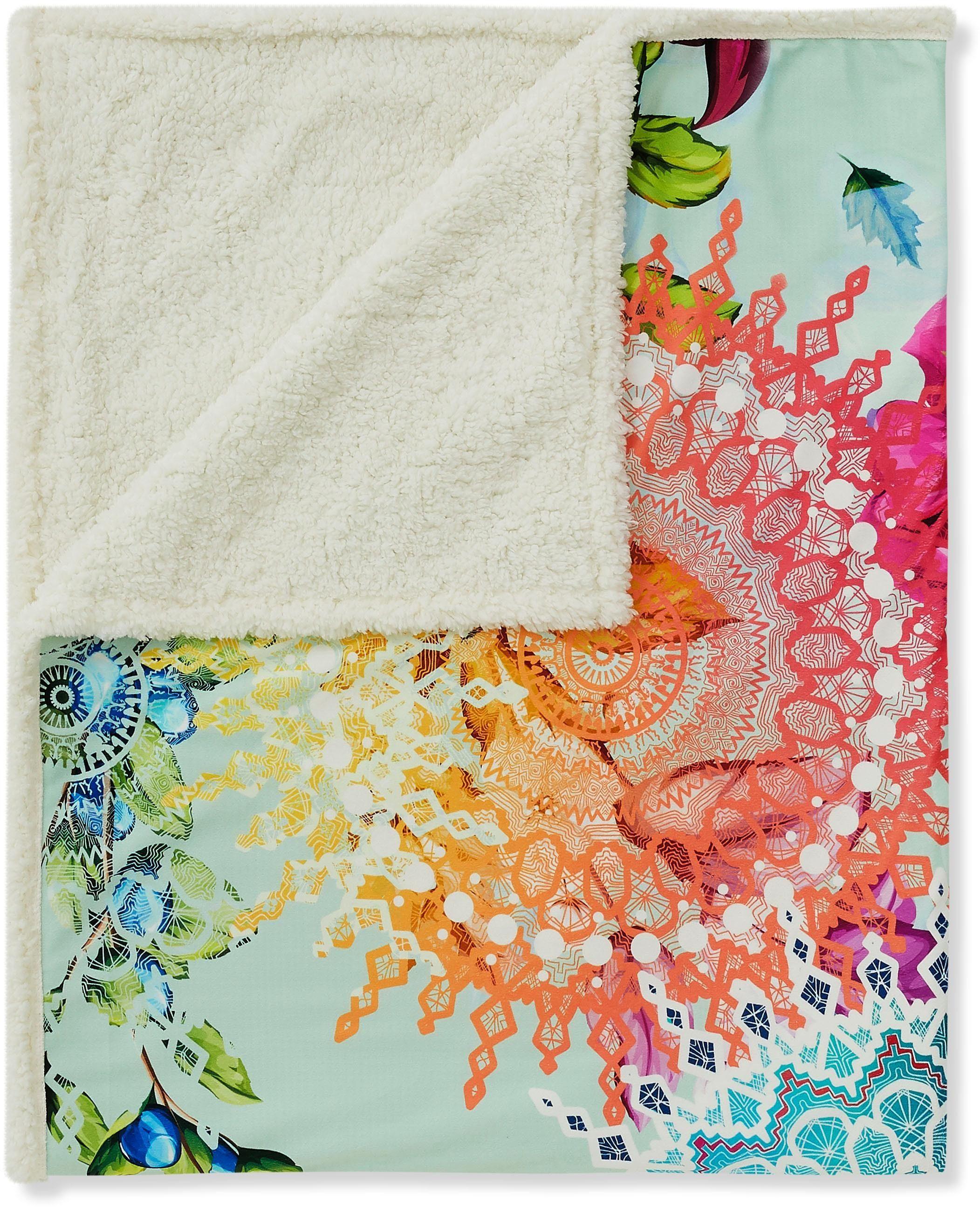 Wohndecke »Lyliane«, hip, mit Mandala und Blumen versehen