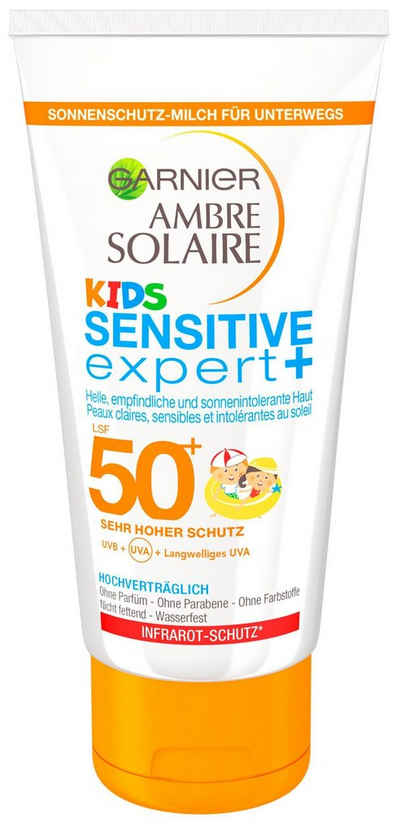 Garnier »Ambre Solaire Kids Sensitive LSF50+«, солнечная молока