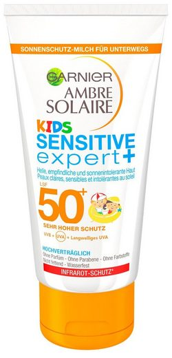 GARNIER Sonnenschutzmilch »Ambre Solaire Kids Sensitive LSF50+«