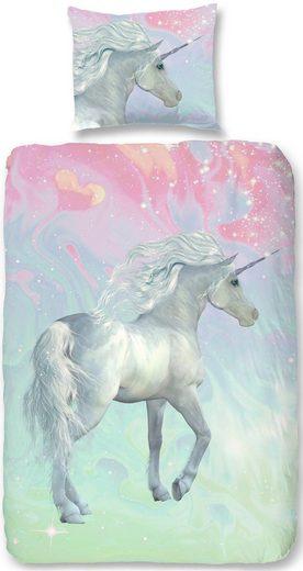 Kinderbettwäsche »Unicorn«, good morning, mit Einhorn