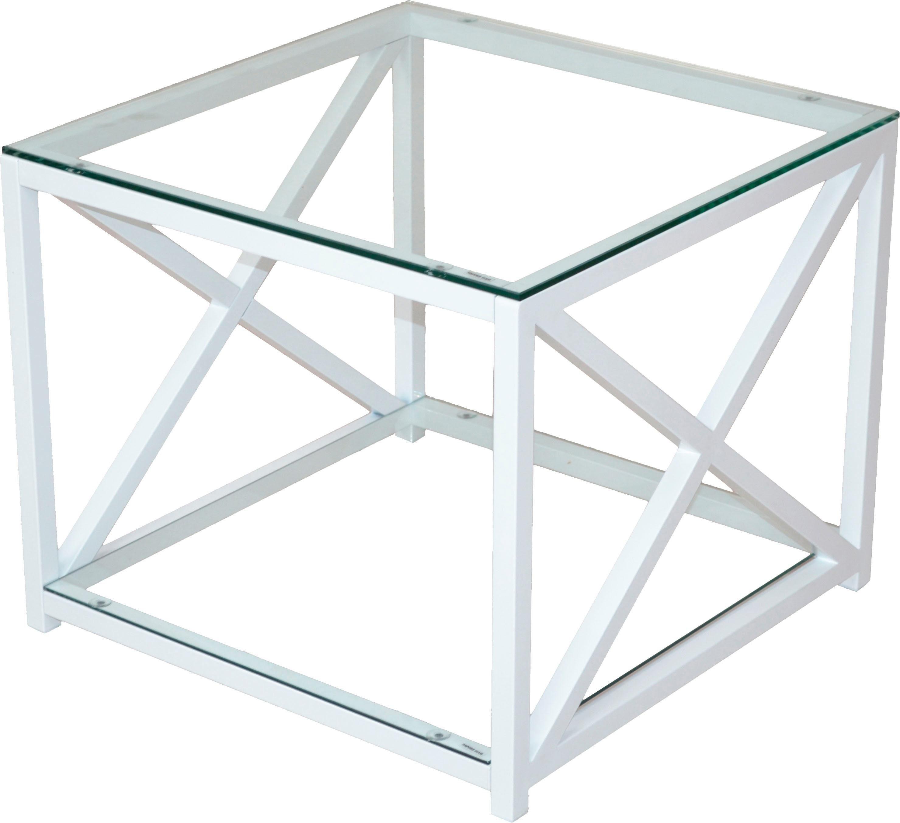 Home Affaire Beistelltisch mit 2 Sicherheits-Klarglasböden
