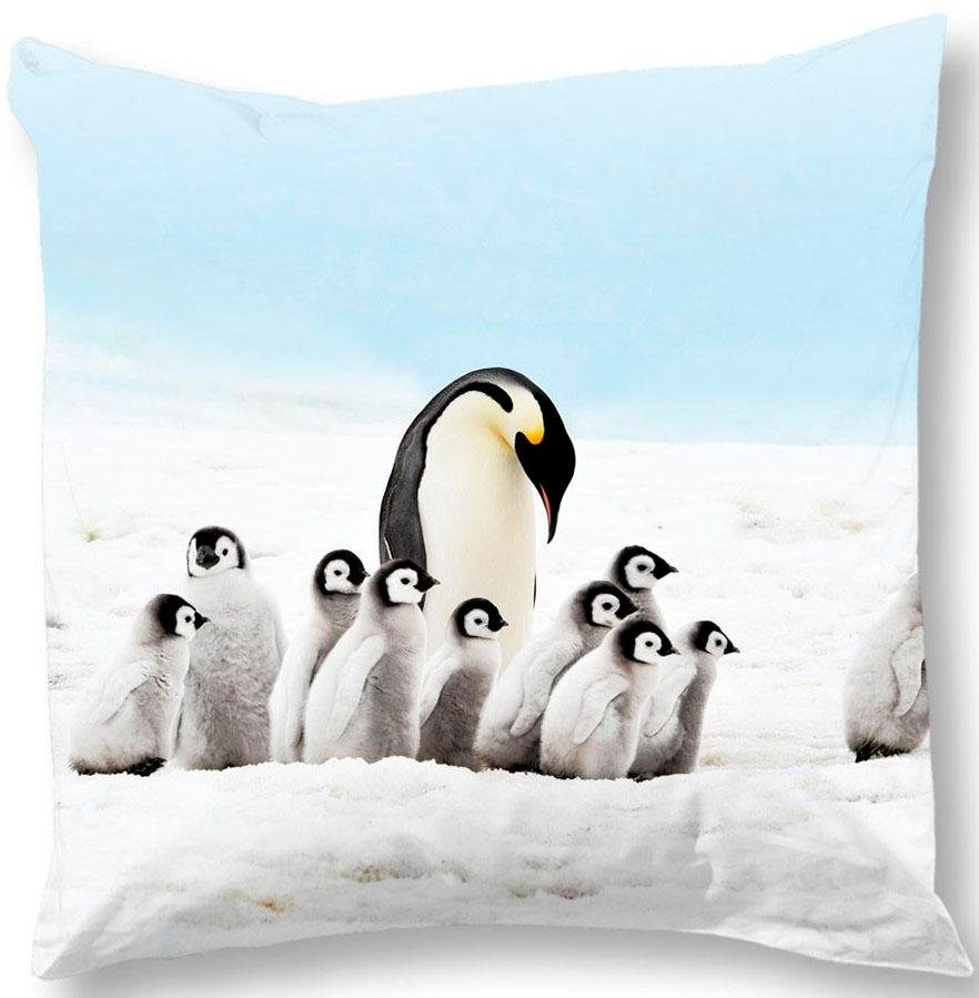 Kissenbezug »Pinguins«, good morning, mit Pinguins