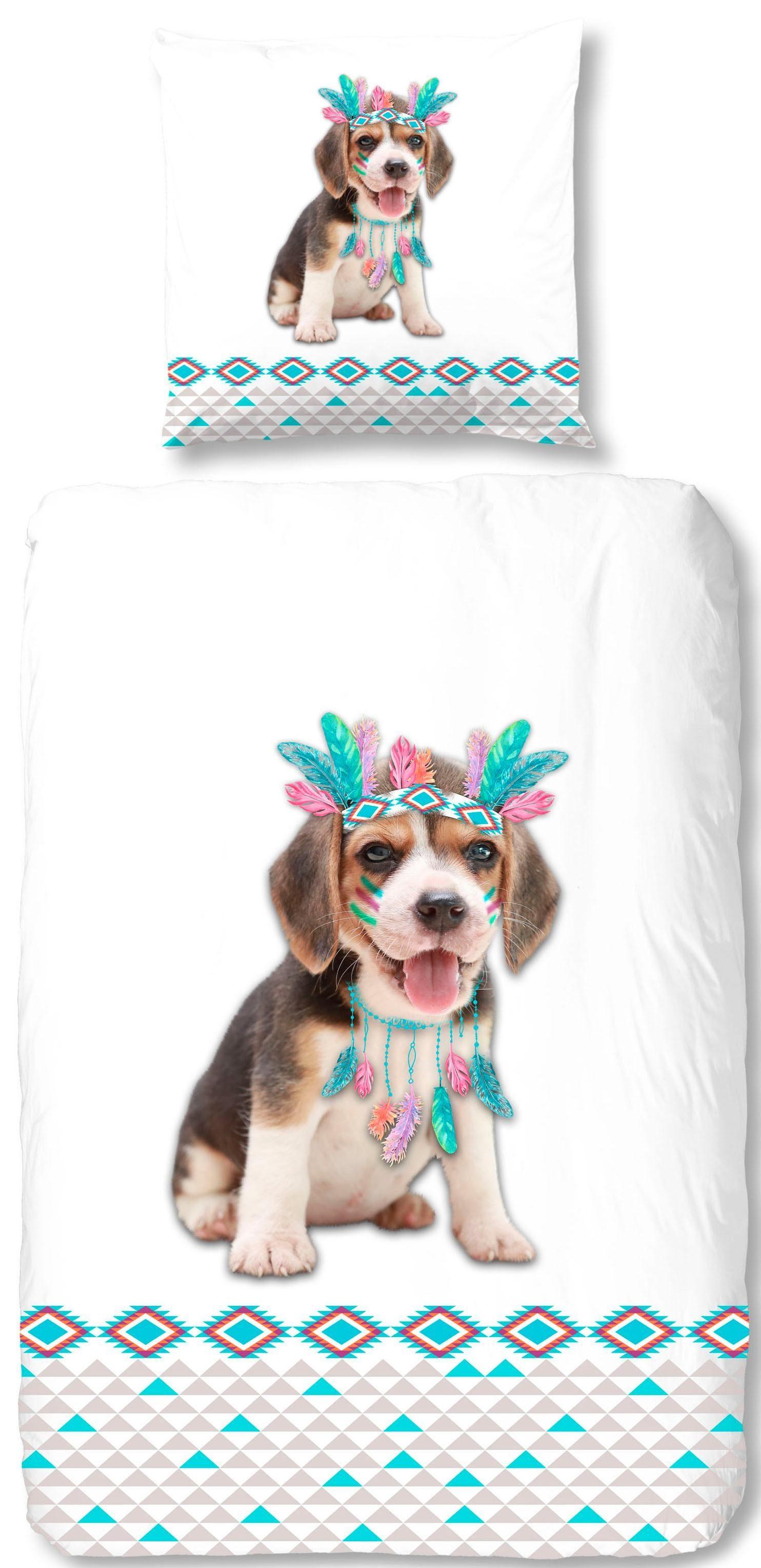 Kinderbettwäsche »Louis«, good morning, mit Hund