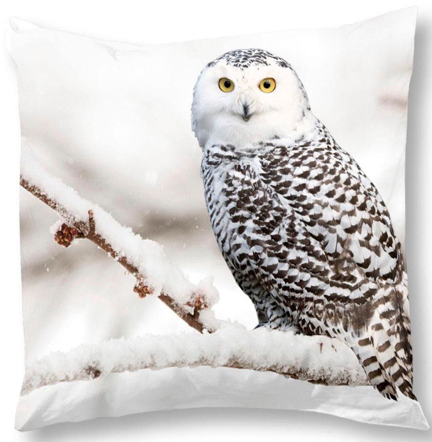 Kissenhülle »Owl«, good morning, mit Schneeeule