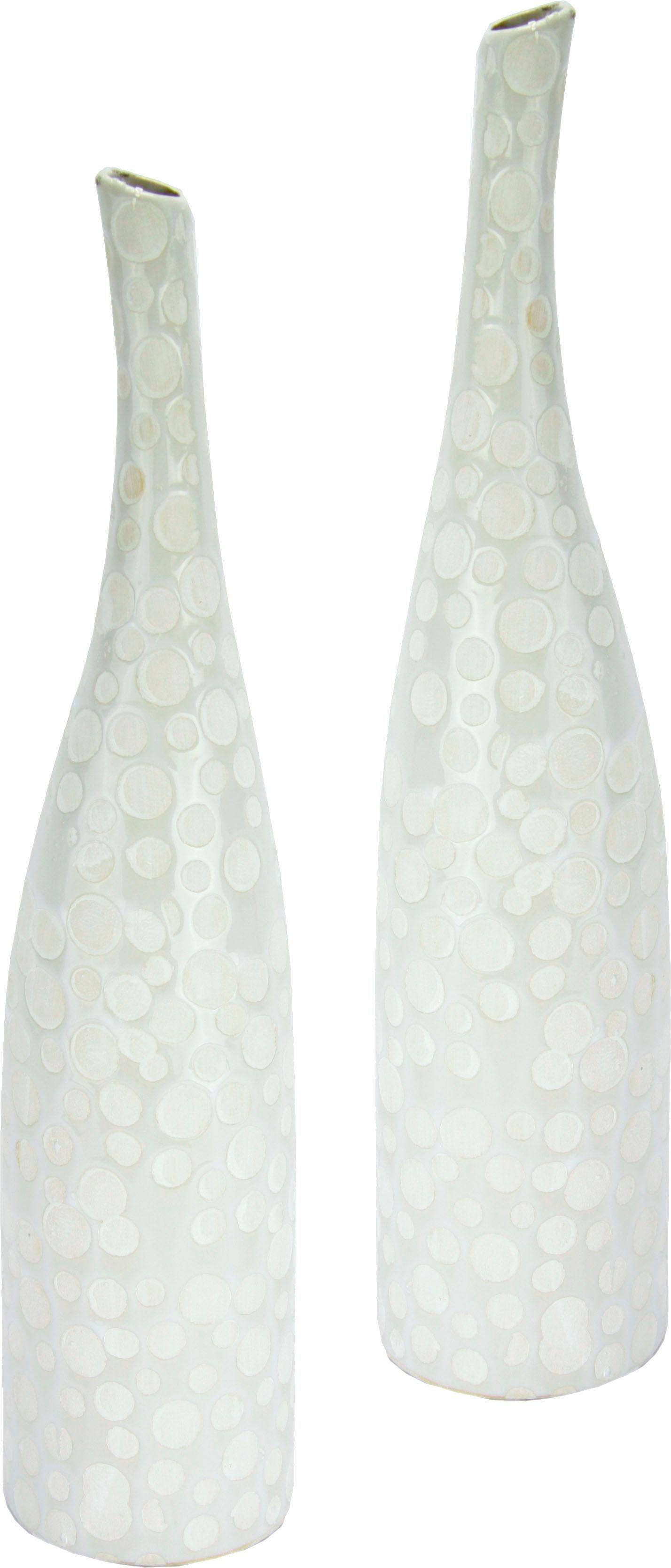 Home Affaire Keramik-Vase, Höhe 42 cm (2er Set)