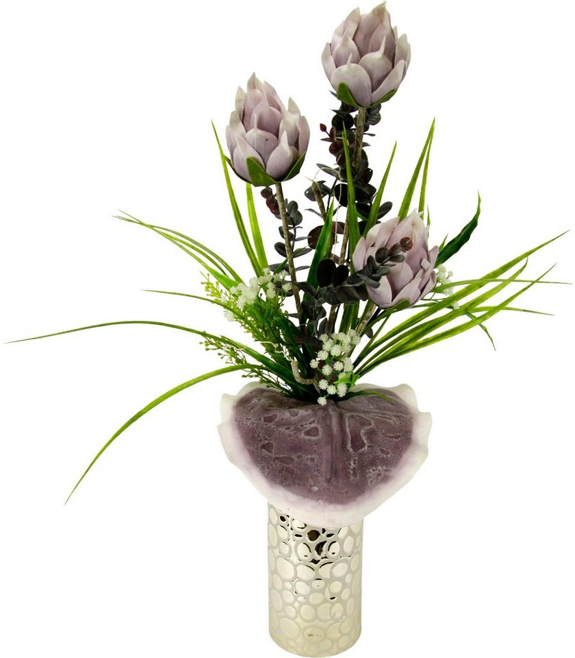 kunstblume soft protea in vase h he 63 cm kaufen otto. Black Bedroom Furniture Sets. Home Design Ideas
