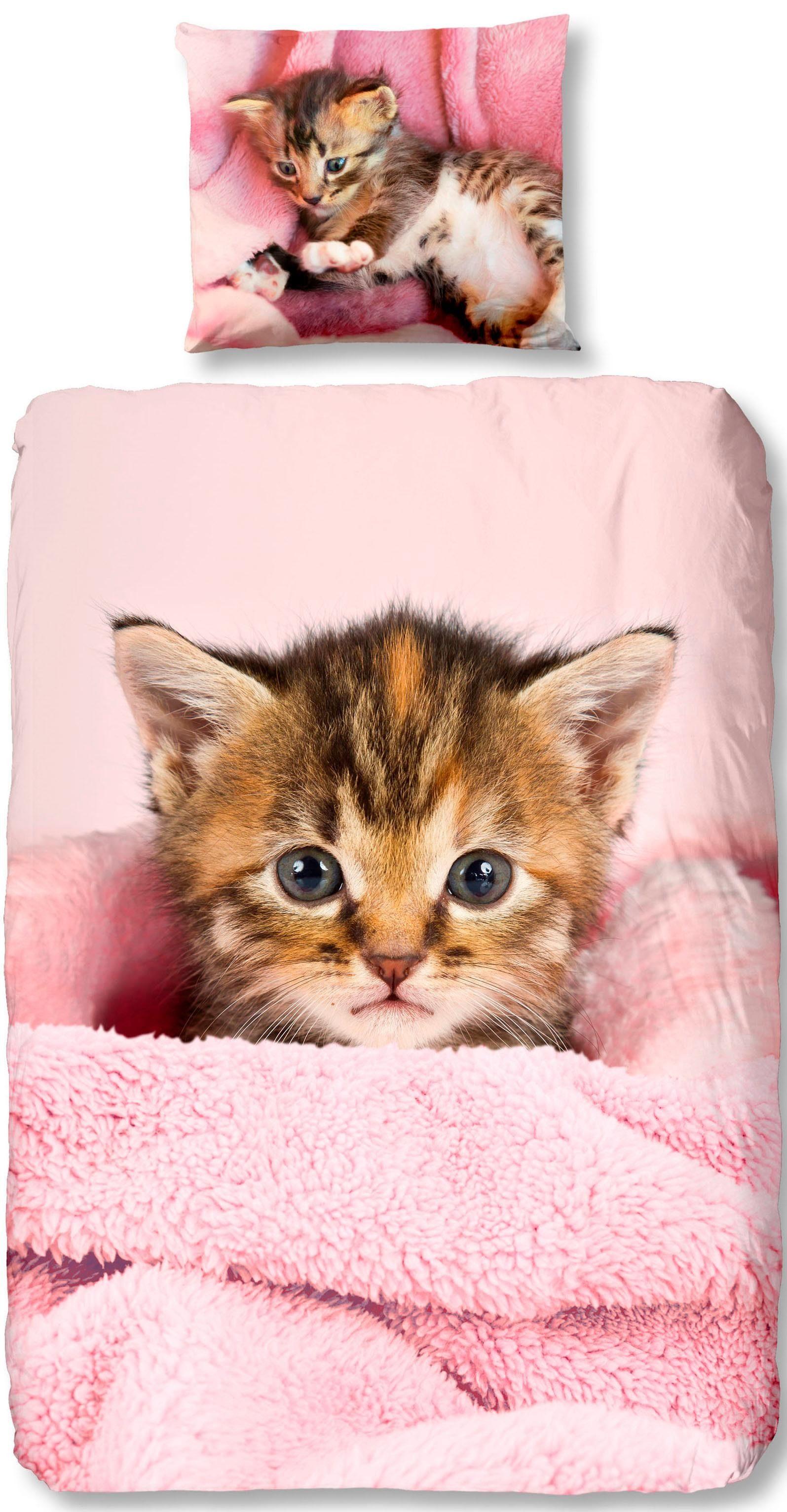 Kinderbettwäsche »Sweety«, good morning, mit Katzen Motiv